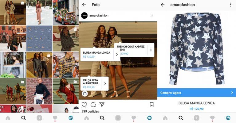 instagram vender pelo aplicativo